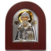 Clarte Icon - Silver Axion St Spyridon w/Gold Accents Large