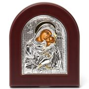 Clarte Icon - Silver Axion HV Mary Kissing Gold 10x8.5cm