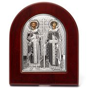 Clarte Icon - Silver Axion St Constantine & Helen Large