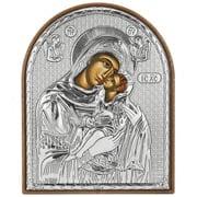 Clarte Icon - Holy Virgin Mary Kissing Lovingly 10.5cm