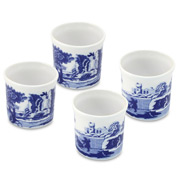 Spode - Blue Italian Eggcup Set 4pce