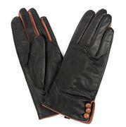 Jendi - Leather Gloves Black/Tan Large