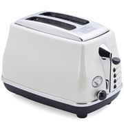 DeLonghi - Icona Two Slice Toaster CTO2003 White