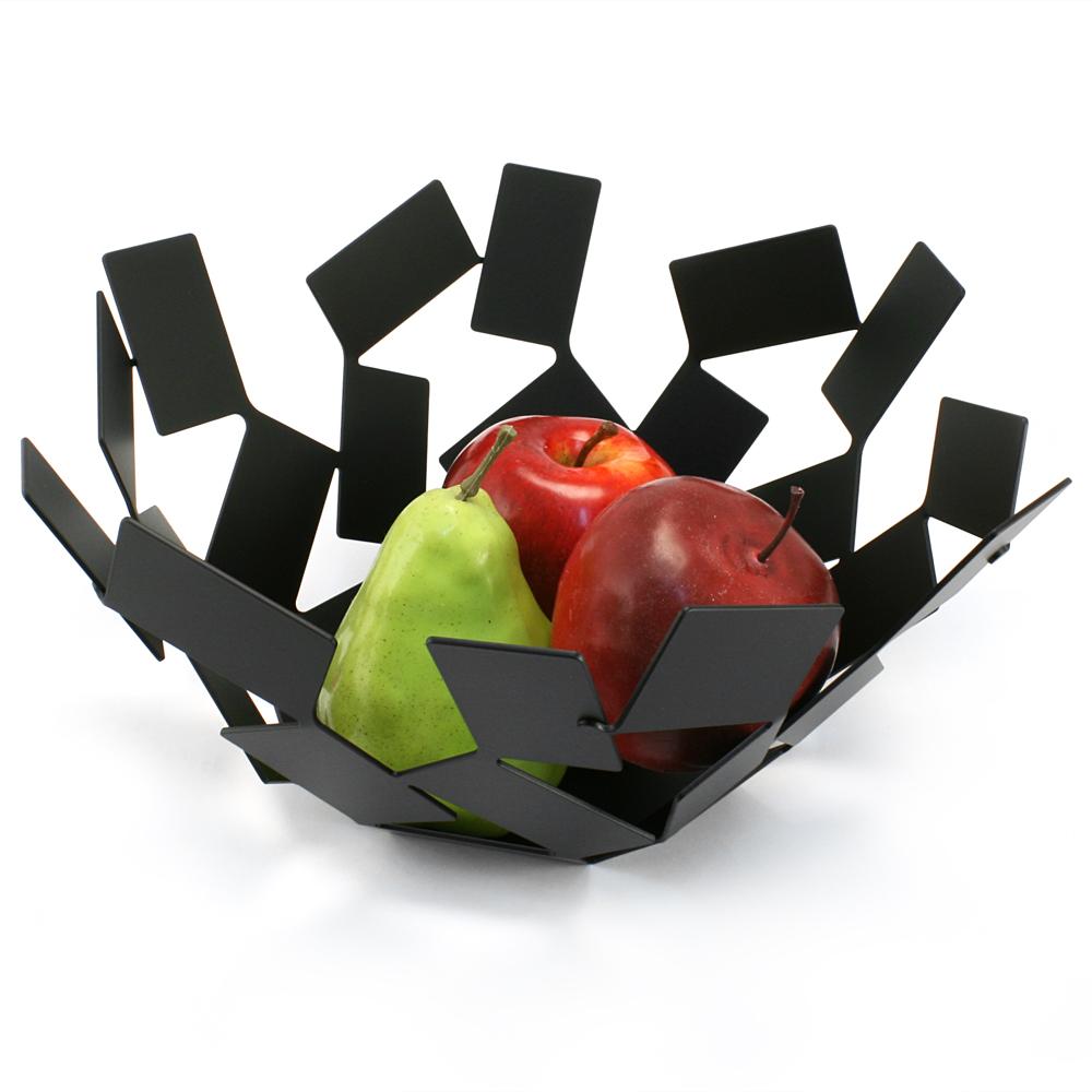 Alessi la stanza dello scirocco black fruit bowl peter 39 s of kensington - Alessi fruit bowl ...