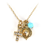 Vatican Library Collection - Delicate Charm Necklace Gold
