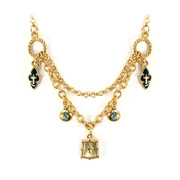 Vatican Library Collection - Dual Strand Blue Charm Necklace