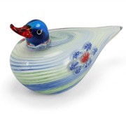 Zibo - Coloured Glass Duck Ornament