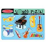 Melissa & Doug - Musical Instruments Sound Puzzle 8pce