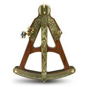 Hemisferium - Wood and Brass Sextant