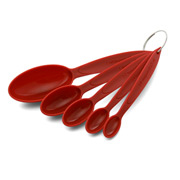 Cuisipro - Measuring Spoon Set Red 5pce