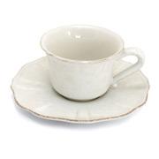 Costa Nova - Impressions White Teacup & Saucer