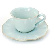 Costa Nova - Impressions Turquoise Teacup & Saucer
