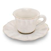 Costa Nova - Impressions White Coffee Cup & Saucer