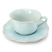 Costa Nova - Impressions Turquoise Jumbo Teacup & Saucer