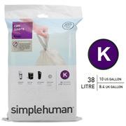 Simplehuman - Sure-Fit Liners Size K 20 x 38L