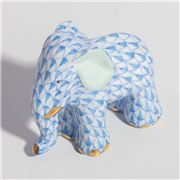 Herend - Elephant Miniature Ornament Blue