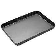 MasterClass - Non-Stick Loose Base Fluted Flat Tin