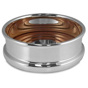 Whitehill - Silver Plated Bottle Coaster with Wooden Base