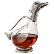 Whitehill - Silver Plated Duck Wine Decanter