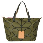 Orla Kiely - Giant Linear Stem Kelp Zip Shopper