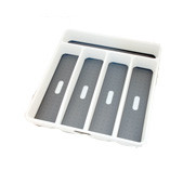 Made Smart - Cutlery Tray w/5 Compartments White