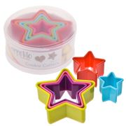 D Line - Star Plastic Cookie Cutter Set 5pce