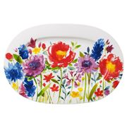 V&B - Anmut Flowers Oval Serving Plate