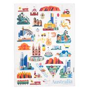AT - Australian Icons Tea Towel