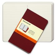 Moleskine - Cahier Ruled Red Pocket Journal Set 3pce