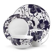 Florence Broadhurst - Spotted Floral Navy Dinner Set 16pce