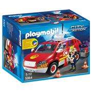 Playmobil - Fire Chief's Car with Lights and Sound