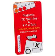 Purple Cow - Magnetic 4 In a Row+ Tic Tac Toe Travel Game