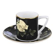 Portmeirion - Ted Baker Rosie Black Espresso Cup & Saucer