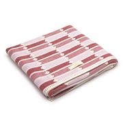 Jude - Buster Soft Pink & Cherry Baby Blanket