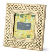 Oscar de la Renta - Brass Pebble Frame 11x11cm