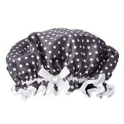 StyleSetter - Polka Dot Black Shower Crown