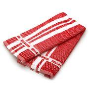 Ladelle - Bella Casa Red Ribbed Kitchen Tea Towel Set 2pce