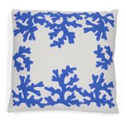 Hampton Collection - Coral Blue Cushion