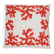 Hampton Collection - Coral Red Cushion