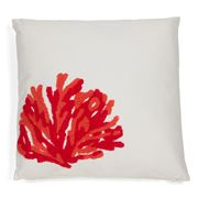 Hampton Collection - Coral Fan Red Cushion
