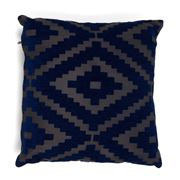 Hampton Collection - Diamond Blue Cushion