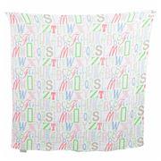 The Little Linen Company - Letters Muslin Swaddling Wrap