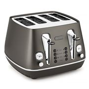DeLonghi - Distinta Black Four Slice Toaster