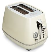 DeLonghi - Distinta White 2 Slice Toaster