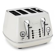 DeLonghi - Distinta White 4 Slice Toaster