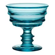 Kosta Boda - By Me Turquoise Footed Bowl