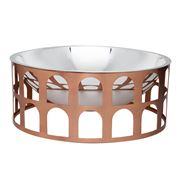 Paola C - Colosseum III Silver Fruit Bowl w/ Copper Base