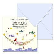 Affirmations - Happy Birthday Life Is A Gift Card