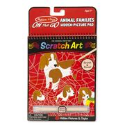 Melissa & Doug - Animal Families Scratch Art Pad