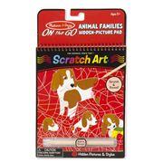 Melissa & Doug - Animal Families Scratch Art Pad